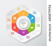 vector infographic of hexagonal ... | Shutterstock .eps vector #680879956