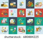 currencies dollar  euro  yen ... | Shutterstock .eps vector #680884225