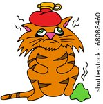 an image of a sick cat with... | Shutterstock .eps vector #68088460