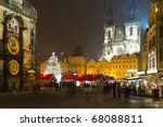 The Old Town Square At Winter...