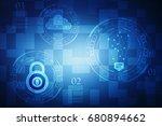digital abstract technology...   Shutterstock . vector #680894662