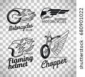 motorcycle race logo or... | Shutterstock .eps vector #680901022