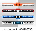 scoreboard digital screen... | Shutterstock .eps vector #680908765