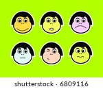 emoticons of various facial... | Shutterstock .eps vector #6809116