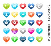 set of social media  icons in... | Shutterstock .eps vector #680914642