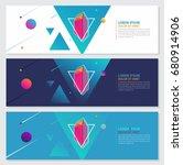 hipster style banner design set ... | Shutterstock .eps vector #680914906
