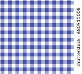blue and white gingham... | Shutterstock .eps vector #680915008