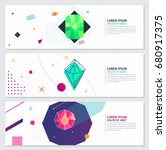 abstract hipster style banner... | Shutterstock .eps vector #680917375