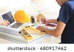 engineering controls work ... | Shutterstock . vector #680917462
