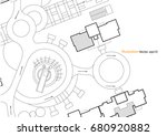 architectural background ... | Shutterstock .eps vector #680920882