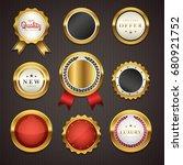 premium commercials golden... | Shutterstock .eps vector #680921752
