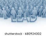 team leader. large group of... | Shutterstock . vector #680924302