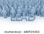 team leader. large group of...   Shutterstock . vector #680924302