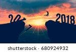 2018 happy new year | Shutterstock . vector #680924932