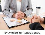 professional female business... | Shutterstock . vector #680931502