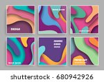 abstract cards background with... | Shutterstock .eps vector #680942926