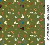 colored random seamless pattern ... | Shutterstock .eps vector #680948206