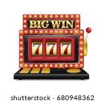 slot machine for casino  lucky... | Shutterstock .eps vector #680948362