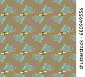 new colorful seamless pattern...   Shutterstock .eps vector #680949556