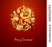 christmas new year greeting... | Shutterstock . vector #680960392