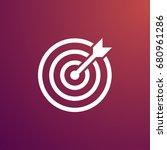 dart on target icon | Shutterstock .eps vector #680961286