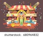 stock vector illustration... | Shutterstock .eps vector #680964832