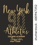 new york college academy... | Shutterstock .eps vector #680967352
