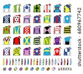 jockey uniform. traditional... | Shutterstock .eps vector #680967742