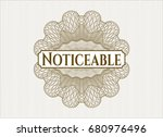 brown money style emblem or... | Shutterstock .eps vector #680976496