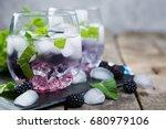 blackberry mojito and... | Shutterstock . vector #680979106