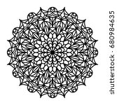 mandala outline. line mandala...   Shutterstock . vector #680984635