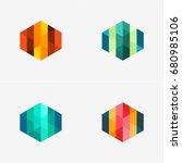 modern abstract design vector... | Shutterstock .eps vector #680985106