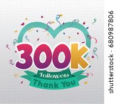 thank you design template for... | Shutterstock .eps vector #680987806