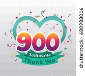 thank you design template for... | Shutterstock .eps vector #680988016