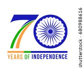 seventy years independence of... | Shutterstock .eps vector #680988616