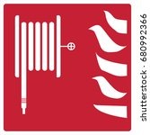 fire safety icon on white... | Shutterstock .eps vector #680992366