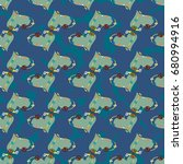 new colorful seamless pattern...   Shutterstock .eps vector #680994916