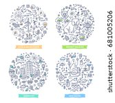 doodle vector concepts of... | Shutterstock .eps vector #681005206