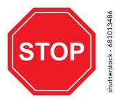 stop traffic sign | Shutterstock .eps vector #681013486