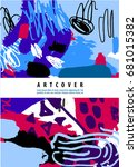 raster copy. artistic poster ... | Shutterstock . vector #681015382