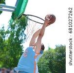 basketball player practicing... | Shutterstock . vector #681027262