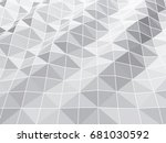 abstract pattern of geometric... | Shutterstock .eps vector #681030592