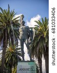Small photo of Statue of Achilles in Corfu, Greece