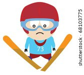 ski jumper in the air | Shutterstock .eps vector #68103775