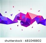 raster copy. abstract colorful... | Shutterstock . vector #681048802