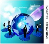 business people team on 3d... | Shutterstock .eps vector #68106091