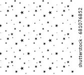 seamless pattern with  stars... | Shutterstock .eps vector #681076852