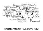 business word cloud | Shutterstock . vector #681091732
