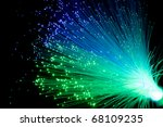 optical fiber color isolated on ... | Shutterstock . vector #68109235