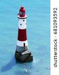 beachy head lighthouse  seven...   Shutterstock . vector #681093592